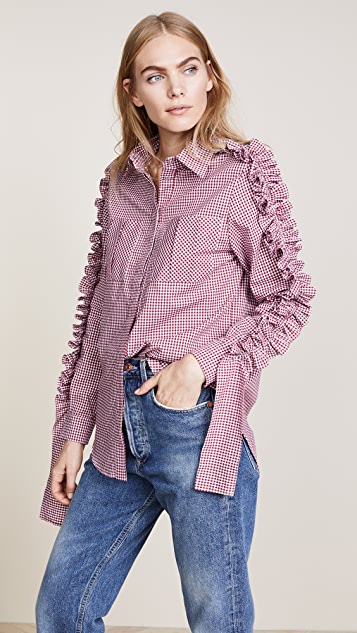 Katya Dobryakova Decor Plaid Shirt