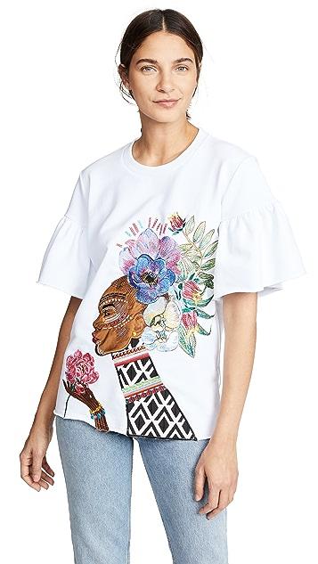 Katya Dobryakova Woman With Flowers Sweatshirt