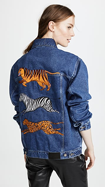 Katya Dobryakova Animals Denim Jacket