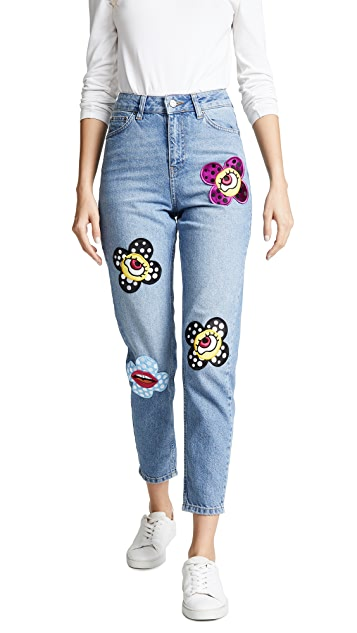 Katya Dobryakova Flower Eyes Jeans