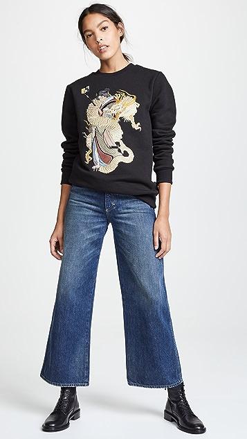 Katya Dobryakova Girl with Dragon Sweatshirt