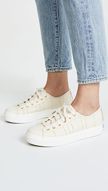 Keds Triple Kick Eyelash Lace Up Sneakers