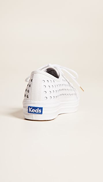 Keds Triple Kick Perforated Sneakers