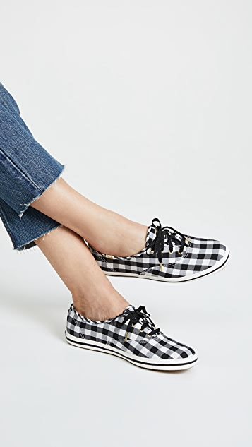 kate spade new york keds x kate spade new york Champion Gingham Sneakers dUTnrYB