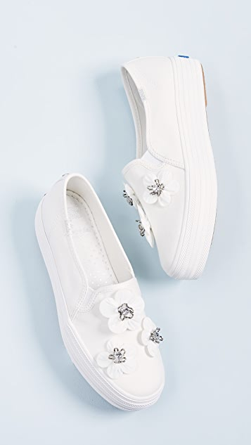 Keds x Kate Spade Triple Decker Flowers Slip On Sneakers