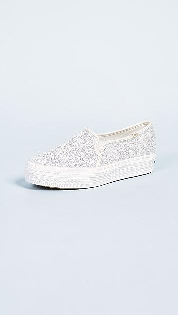 cab93a598b9 Keds x Kate Spade Triple Decker Slip On Sneakers