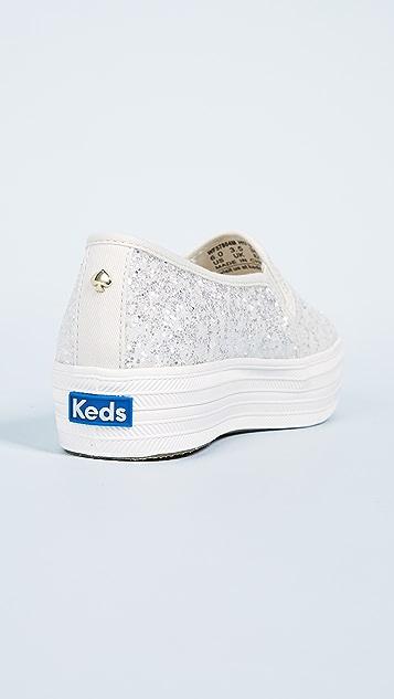 Keds x Kate Spade Triple Decker Slip On Sneakers
