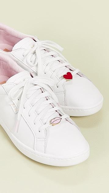 Keds x Kate Spade Ace 唇形/心形运动鞋
