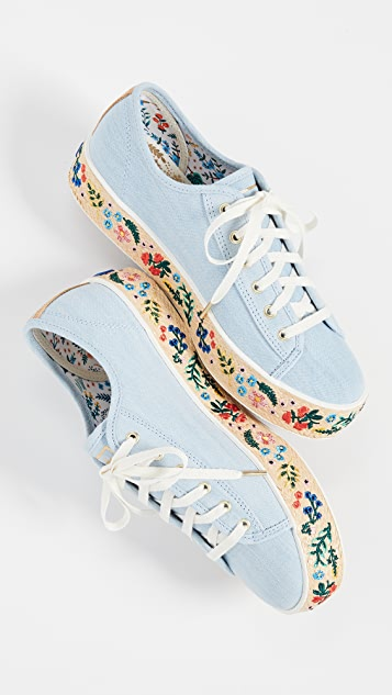 Keds x Rifle Paper Co Triple Kick Espadrille Sneakers
