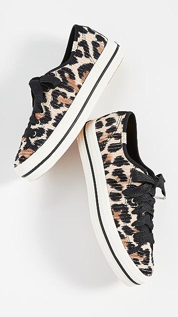 Keds Кроссовки x Kate Spade Triple Kick с леопардовым принтом