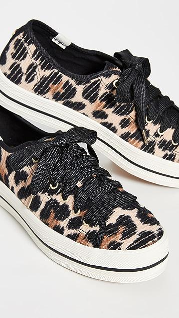 Keds x Kate Spade Triple Kick Leopard Sneakers