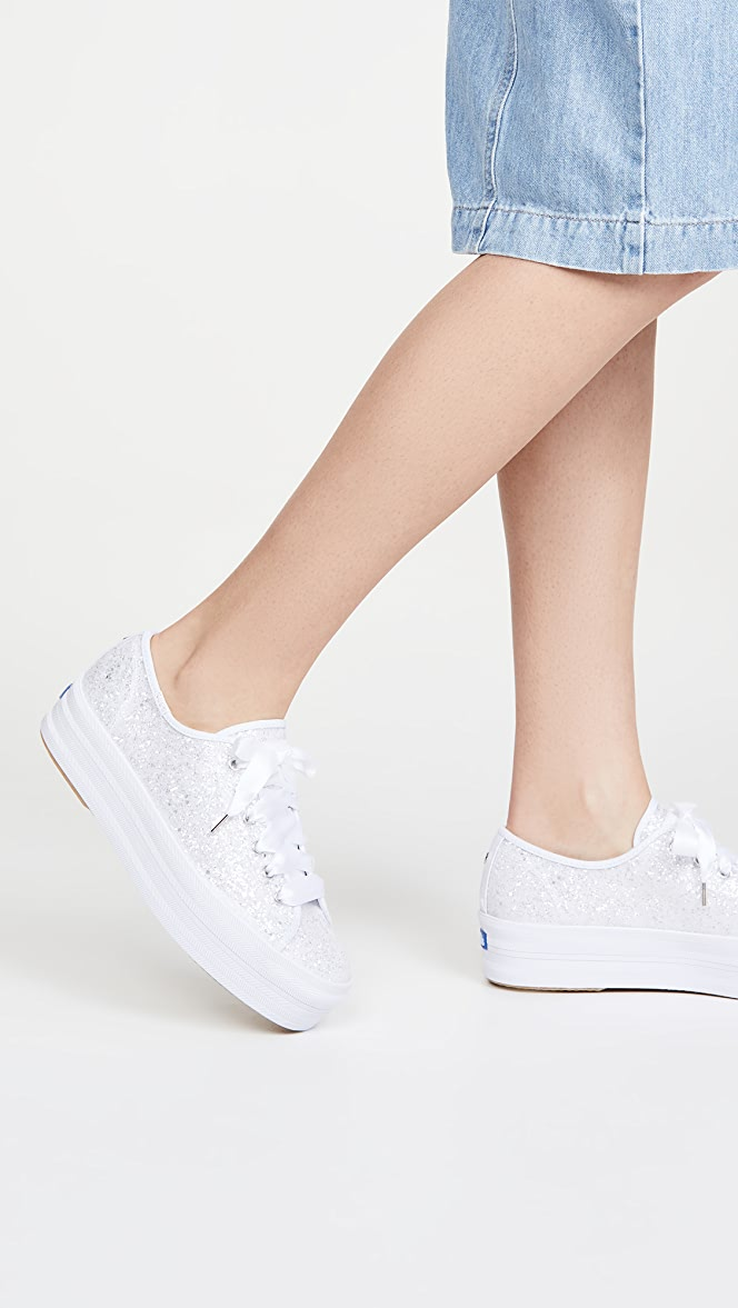 Keds x Kate Spade Triple Up Glitter Sneakers | SHOPBOP