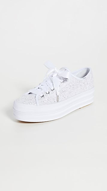 Keds x Kate Spade Triple Up Glitter Sneakers