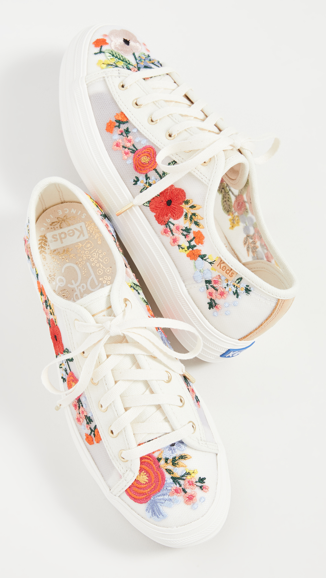 Keds Triple Kick Embroidered Mesh Sneakers