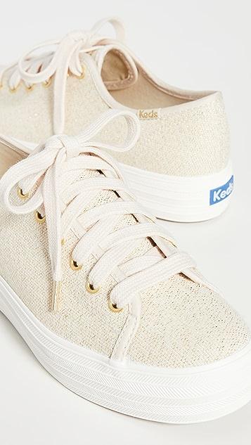 Keds Triple Kick Scattered Lurex 运动鞋