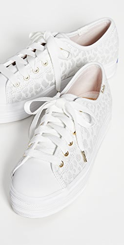 Keds - x Kate Spade Triple Kick Embroidered Leopard Sneakers