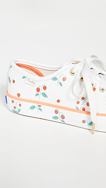 Keds x Rifle Paper Co. Kickstart Strawberries Sneakers