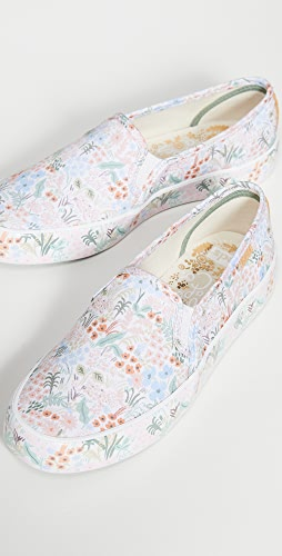 Keds - x Rifle Paper Co. Double Decker Meadow Cream Sneakers