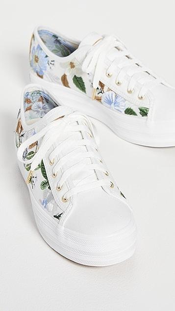 Keds x Rifle Paper Co. Triple Kick Hydrangea Sneakers