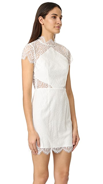 Keepsake Daydream Lace Mini Dress