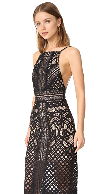 Keepsake Bridges Lace Midi Dress