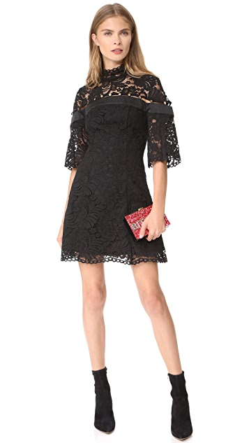Keepsake Star Crossed Lace Mini Dress