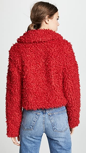 Keepsake Lionheart Cropped Faux Fur Coat