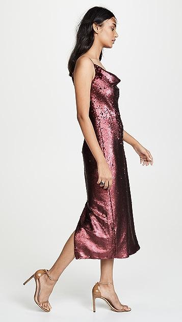 Keepsake No Signs Sequined Midi Dress