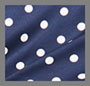 Navy/Porcelain Polka Dot