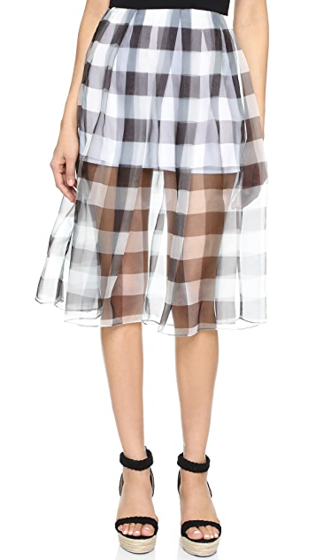 KENDALL + KYLIE Organza Pleated Skirt