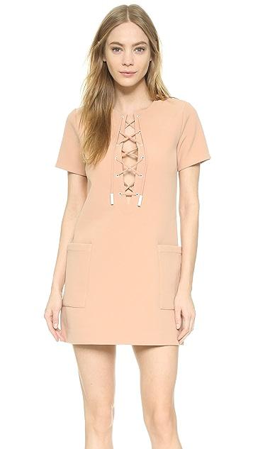 KENDALL + KYLIE Lace Up Safari Dress