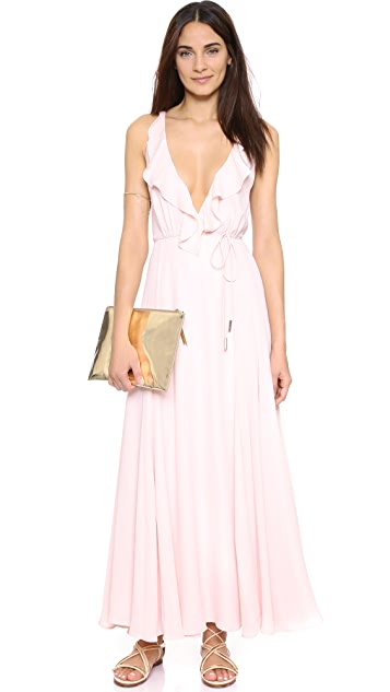 KENDALL + KYLIE Ruffle Wrapped Maxi Dress