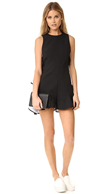 KENDALL + KYLIE Flutter Lace Up Romper