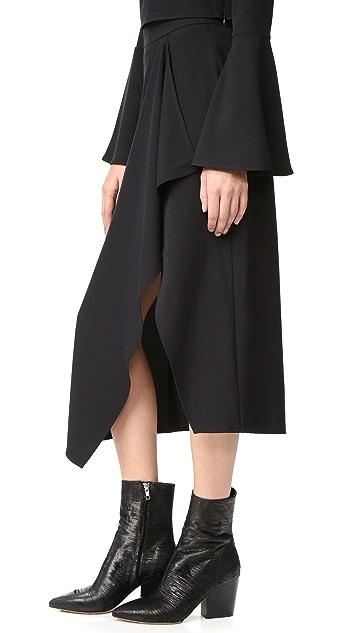 KENDALL + KYLIE Asymmetrical Draped Skirt