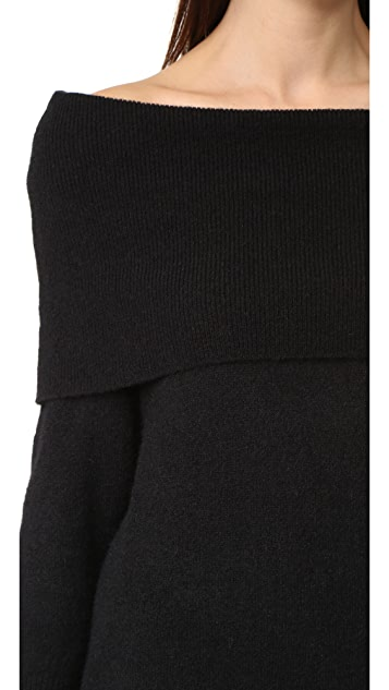 KENDALL + KYLIE Fuzzy Knit Tunic