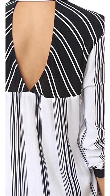 KENDALL + KYLIE Stripe Blouse