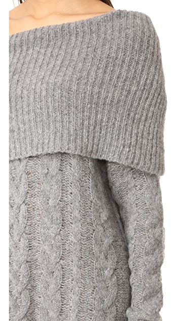 KENDALL + KYLIE Oversized Cable Tunic Sweater