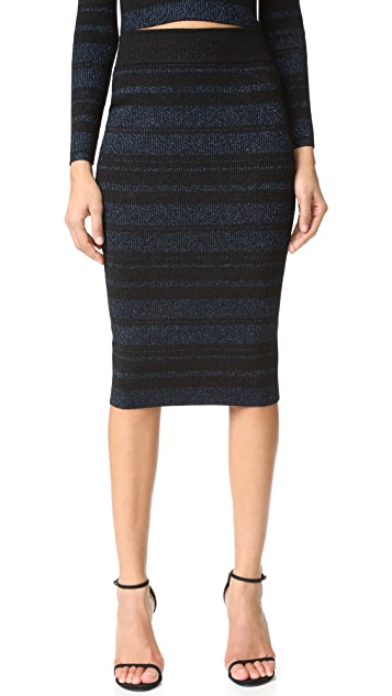 KENDALL + KYLIE Stripe Pencil Skirt
