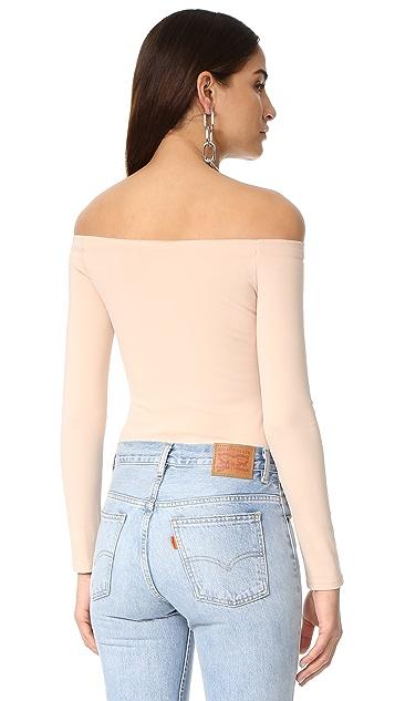 KENDALL + KYLIE Off Shoulder Long Sleeve Bodysuit