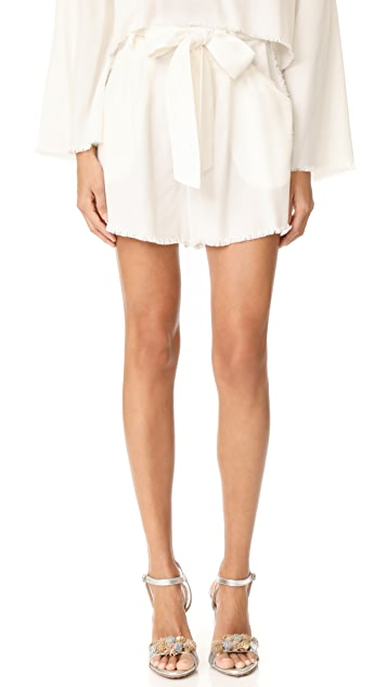 KENDALL + KYLIE Frayed Twill Shorts