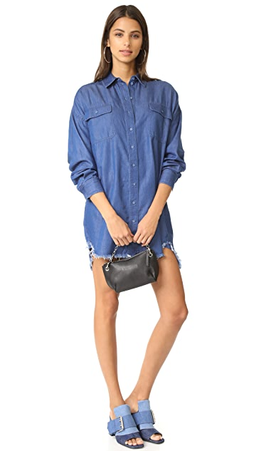KENDALL + KYLIE Frayed Chambray Dress