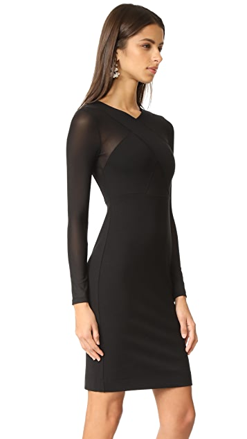 KENDALL + KYLIE Cross Over Long Sleeve Dress