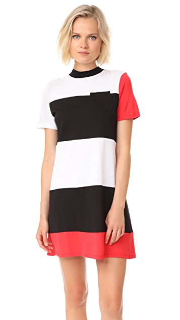 KENDALL + KYLIE Geo Striped Dress
