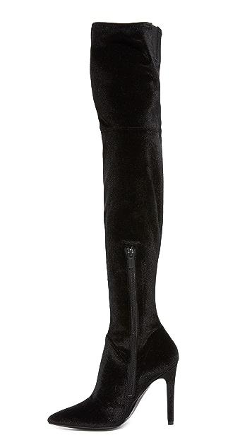 KENDALL + KYLIE Ayla II Velvet Thigh High Boots