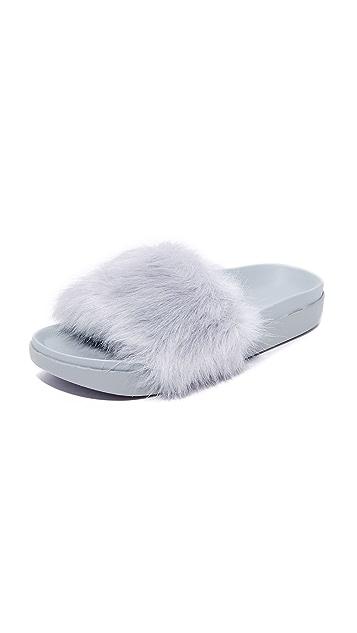 KENDALL + KYLIE Shai Faux Fur Slides