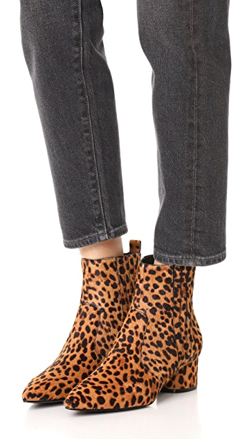 KENDALL + KYLIE Lacely Leopard Booties