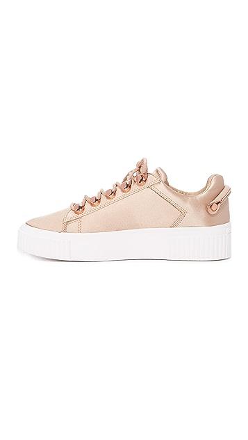 KENDALL + KYLIE Rae III Satin Sneakers