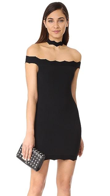 KENDALL + KYLIE Scallop Choker Dress