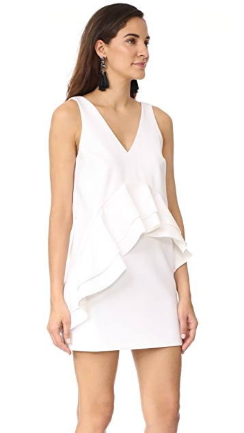 KENDALL + KYLIE Ruffle Double V Dress