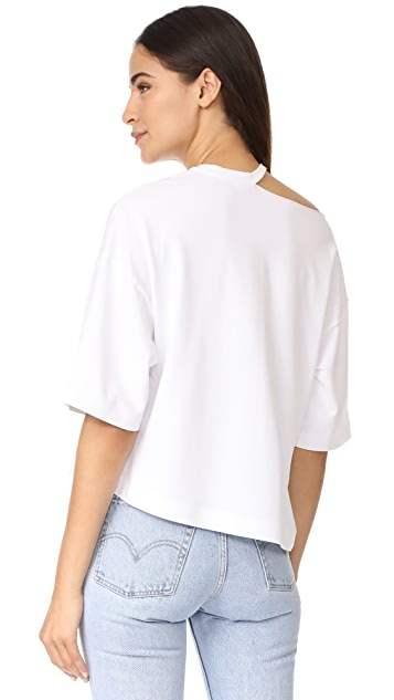 KENDALL + KYLIE Distressed Boxy Tee